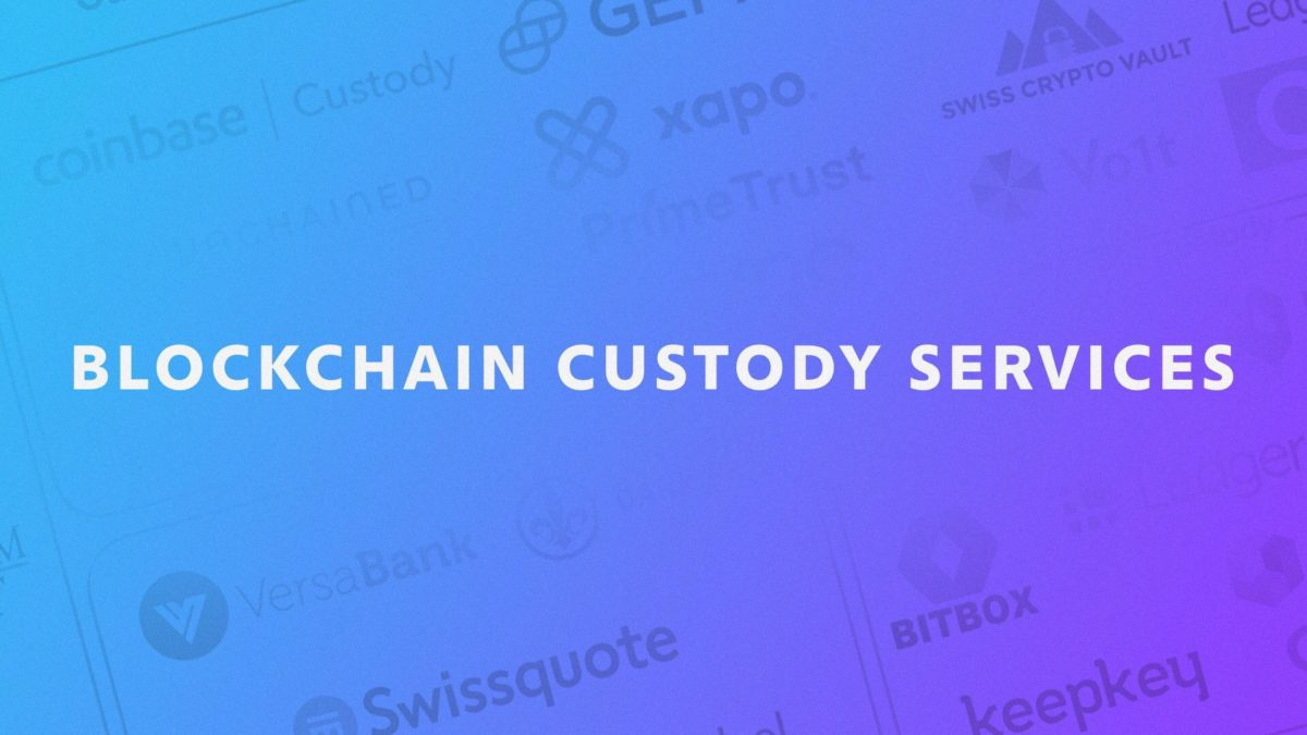 Mapping out custody services across the blockchain ecosystem