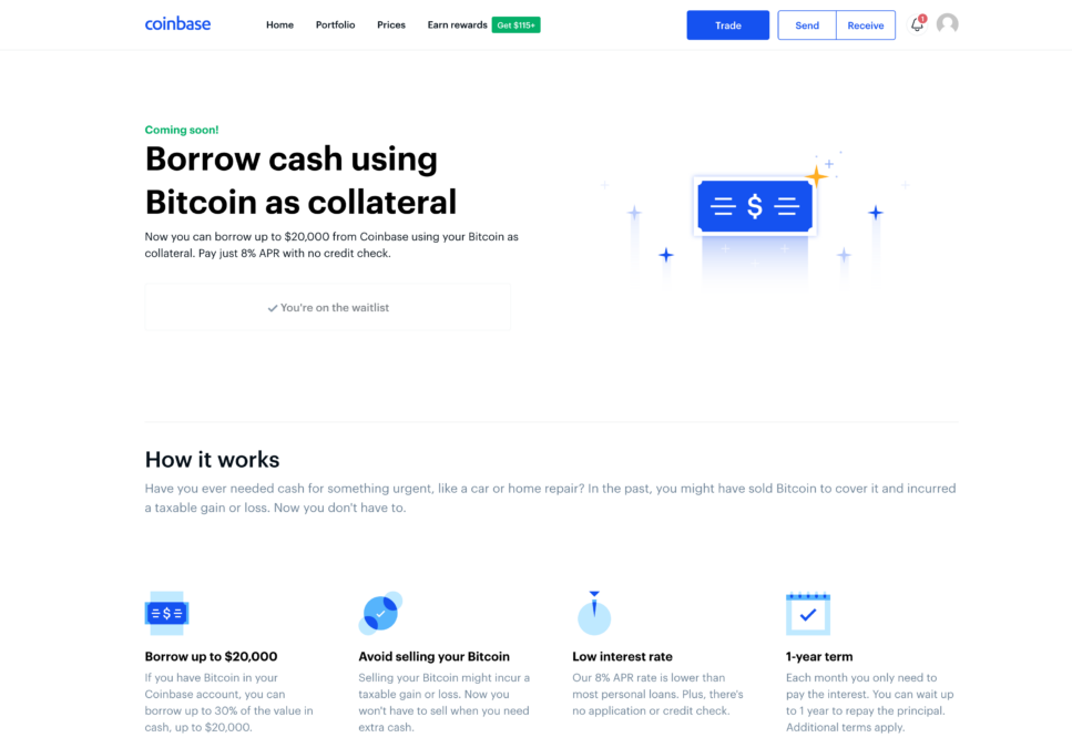 Coinbase is set to enter the lending space this fall, will enable cash loans for bitcoin ...